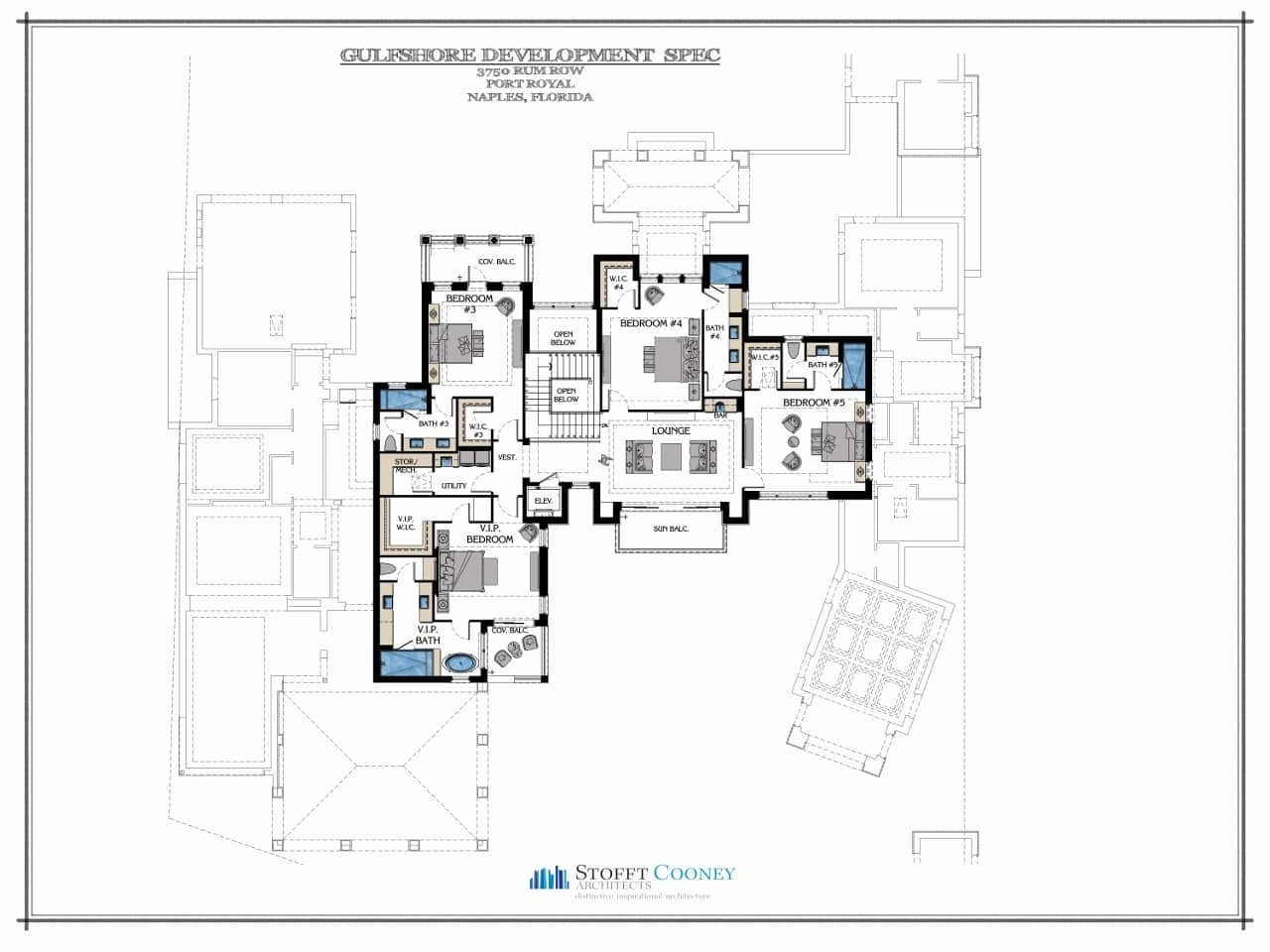 Upstairs Floor Plan - 3750 Rum Row, Naples