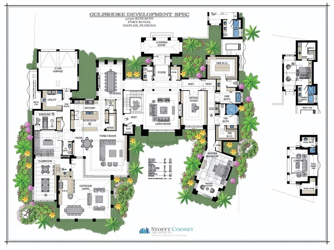 Downstairs Floor Plan - 3750 Rum Row, Naples