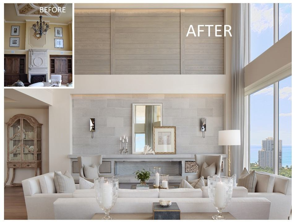 Trieste penthouse remodel before and after pictures for Living room renovation before and after